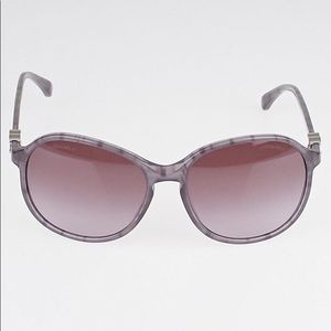 CHANEL Sunglasses 5217 Tweed Oval Style Violet